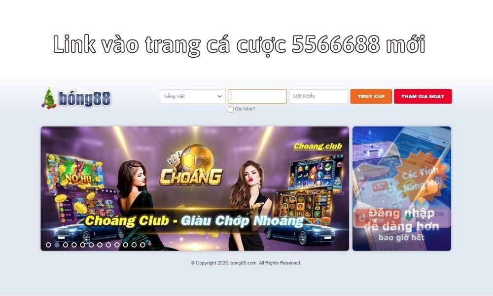 Link vào trang cá cược 5566688 mới
